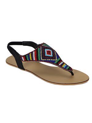 Flora PF-0102-01 Black Women Sandal