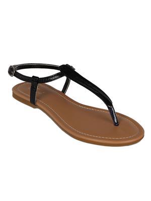 Flora PF-0108-01 Black Women Sandal