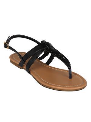 Flora PF-0110-01 Black Women Sandal