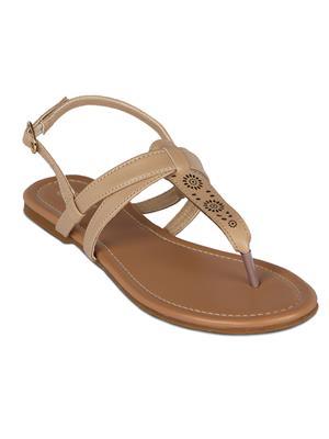Flora PF-0110-03 Cream Women Sandal