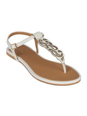 Flora PF-0111-02 White Women Sandal