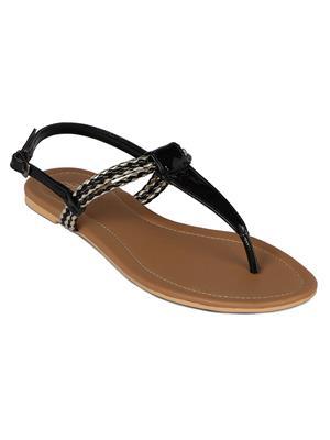 Flora PF-0113-01 Black Women Sandal