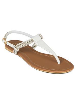 Flora PF-0113-02 White Women Sandal