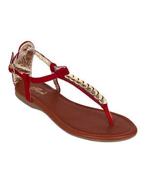 Flora PF-0123-05 Red Women Sandal