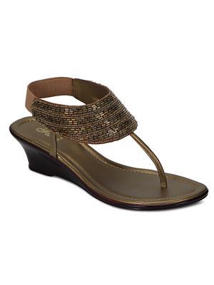 Flora PF-1003-22 Golden Women Sandal