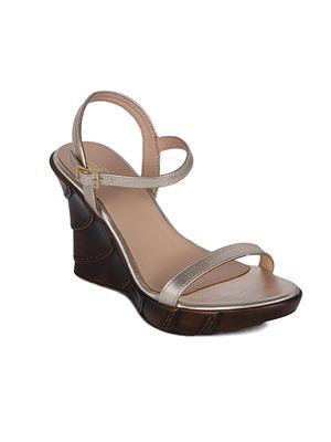 Flora PF-2002-31 Golden Women Sandal