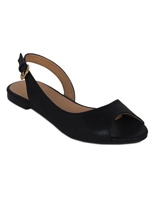 Flora PF-3004-01 Black Women Sandal