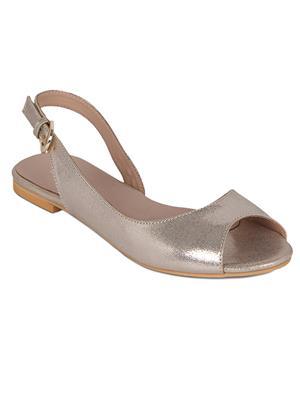 Flora PF-3004-31 Golden Women Sandal