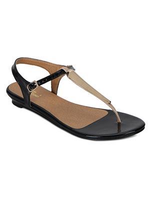 Flora PF-4000-01 Black Women Sandal