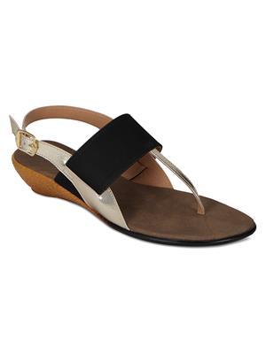Flora PF-4001-01 Black Women Sandal