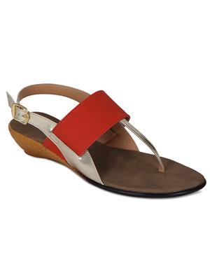 Flora PF-4001-13 Orange Women Sandal