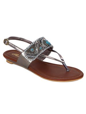 Flora PF-4001-21 Silver Women Sandal