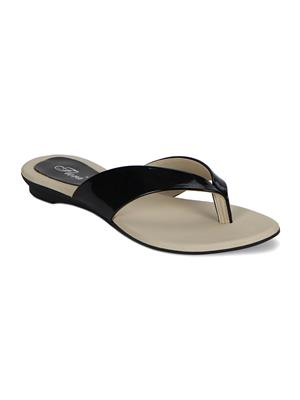 Flora PJ-502-01- Black Women Flat
