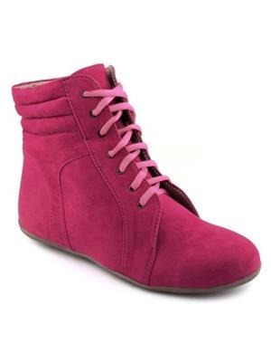 Red BravoS Pk-1008Long Pink Women Boots