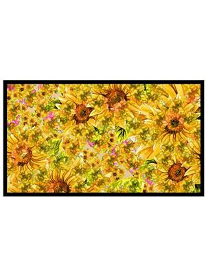 Shoping Inc POS1069 Yellow Flowers Abstract Art Laminated Framed Poster