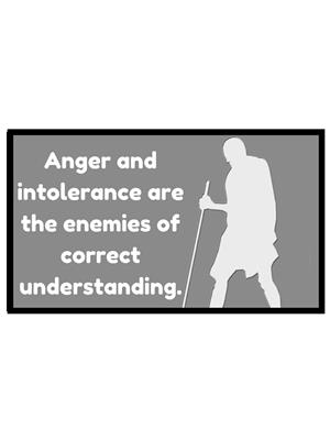 Shoping Inc POS1110 Anger And Intolerance Mahatma Gandhi Inspire Quotes Laminated Framed Poster