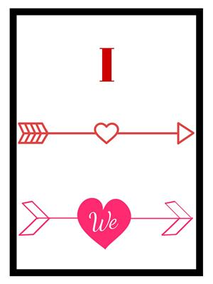 Shoping Inc POS1118 I Love We ValentineS Day Quotes Laminated Framed Poster