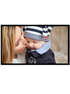 Shoping Inc POS1125 Cute Baby With Mom Laminated Framed Poster