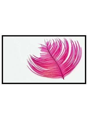 Shoping Inc POS1185 Pink Leaf Art Laminated Framed Poster