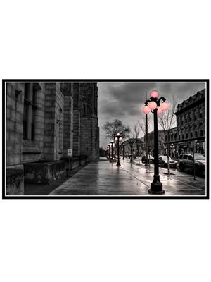 Shoping Inc POS1346 City Evening Laminated Framed Art