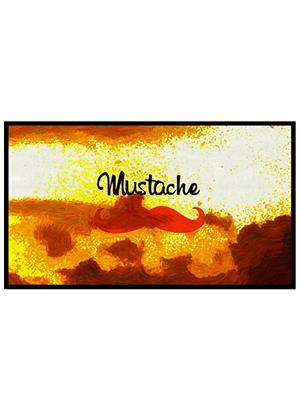 Shoping Inc POS1415 Mustache Minimalist Laminated framed Art