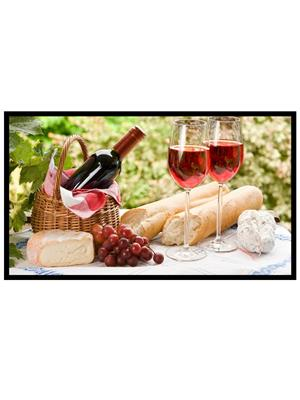Shoping Inc POS1490 Still Life With Fruit And Wine Decorative Laminated Framed Art