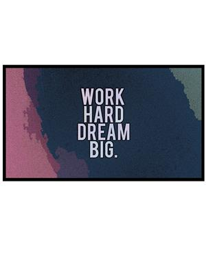 Shoping Inc POS30036 Work Hard Dream Big Motivational Quote Laminated Framed Poster