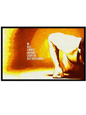 Shoping Inc POS30042 NO rest Bodybuilding Motivational Quote Laminated Framed Poster