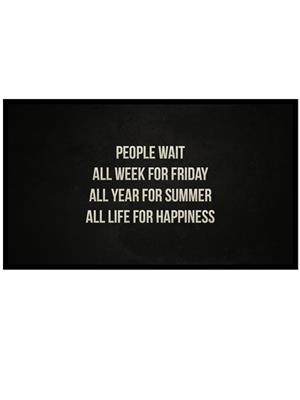 Shoping Inc POS30049 People Wait Quote on Life Laminated Framed Poster