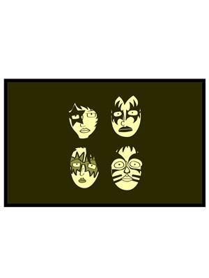 Shoping Inc POS30075 Kiss Awesome Rock Band Laminated Framed Poster