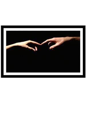 Shoping Inc POS30182 FIngers Touch Love Romantic Love Laminated Framed Poster For Valentine