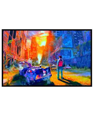 Shoping Inc POS30680 Back to The Future Red Tint Marty Mcfly Poster Laminated Framed Poster