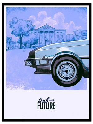 Shoping Inc POS30685 Back to The Future III DeLorean DMC-12 Promotional Poster Laminated Framed Post