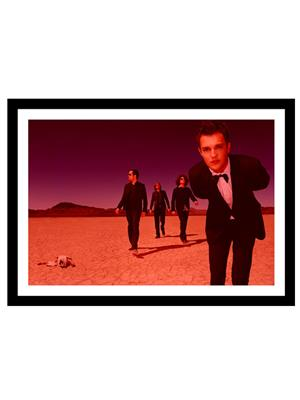Shoping Inc POS30876 Christmas in L.A. Rock band The Killers Laminated Framed Poster