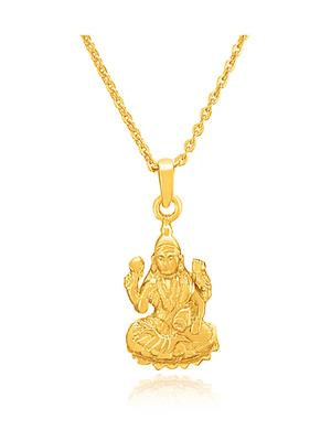 Mahi Fashion Jewellery Devi Laxmi maa Golden Pendant
