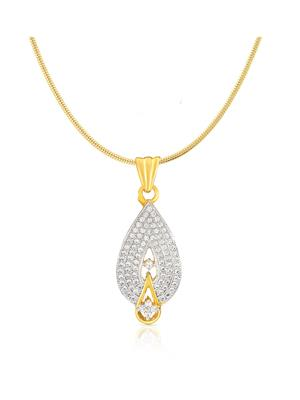 Mahi Fashion Jewellery Drop White Stone Pendant