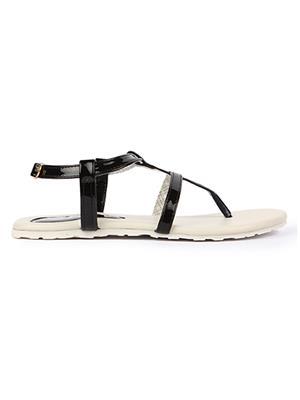Jove PSJ1410 Black Women Sandal