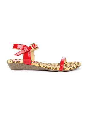 Jove PSJ1510 Red Women Sandal