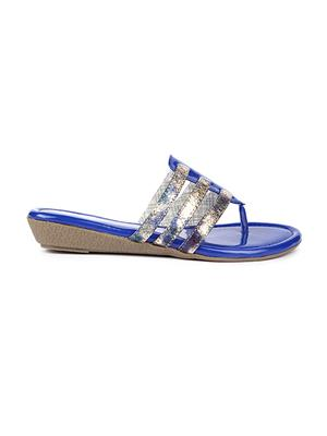 Jove PSJ201 Blue Women Slipper
