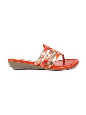 Jove PSJ201 Orange Women Slipper