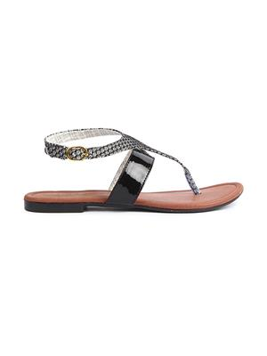 Jove PSJ512 Black Women Sandal