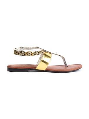 Jove PSJ512 Gold Women Sandal