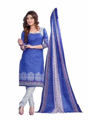 Minu Suits 5002 Blue Women Dress Material
