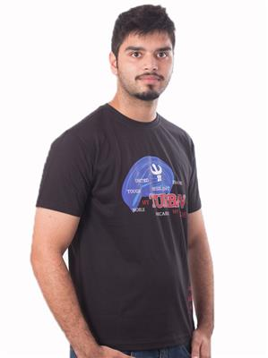 Punjabi Heritage PBH-118 Black  Men T-Shirt