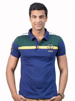 Punjabi Heritage PBHC-15 Blue  Men T-Shirt