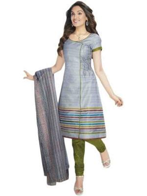 Prachi Collection Prachi018 Grey Women Cotton Printed Dress Material