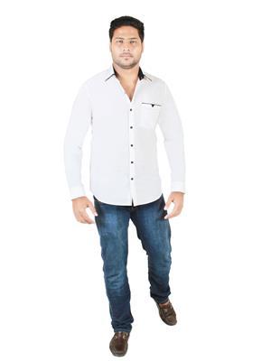 Qdesigns Qd072 White Men Casual Shirt