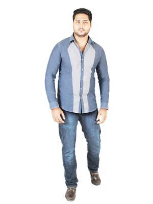 Qdesigns Qd074 Grey Men Casual Shirt