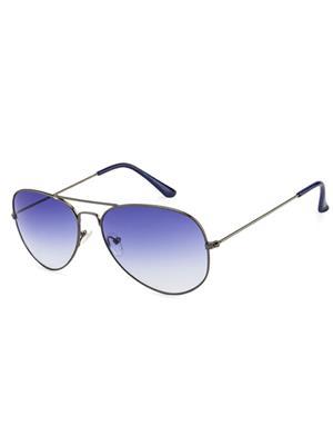 Rafa RAFA-GNGRDBLU-3025 Grey Unisex Aviator Sunglasses