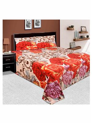 Unnati Rafm-07 Multicolored Bedsheet With 2 Pillow Cover Combo Pack